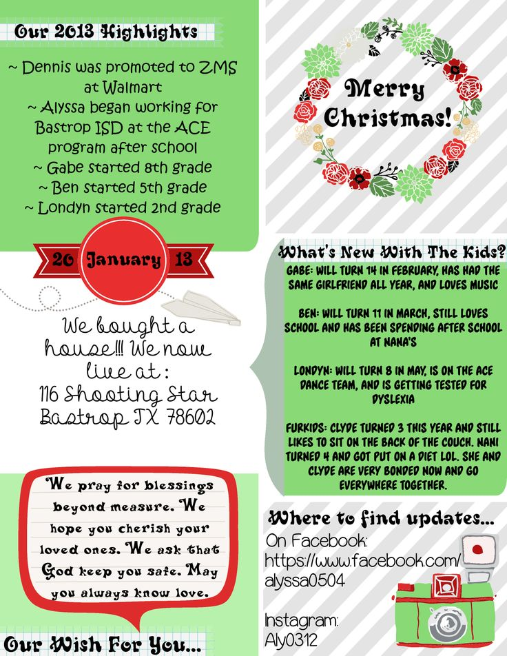 13 Best Family New Letters Images On Pinterest | Christmas Letters