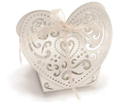 Scatole regalo - Scatolina Portaconfetti Bomboniera Cuore pz.25 - un prodotto unico di raffasupplies su DaWanda