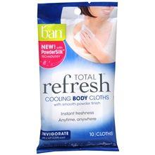 Ban Total Refresh Cooling Body Cloths Invigorate at Walgreens. Get free shipping at $35 and view promotions and reviews for Ban Total Refresh Cooling Body Cloths Invigorate