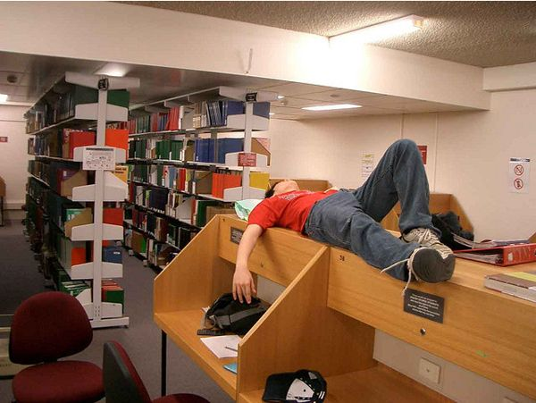 """Unironically referring to the library or the lab as """"home."""" 