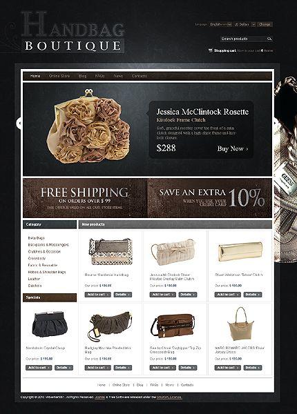 Handbag Boutique VirtueMart Templates by Mercury