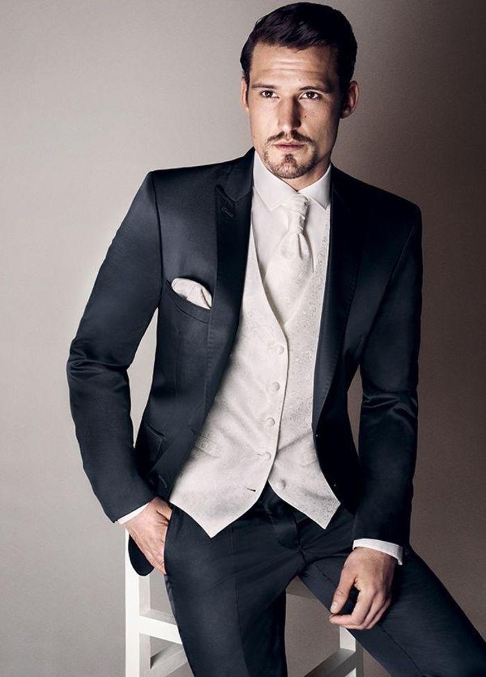 les tendances de la mode homme pour 2016, costard homme pas cher gris anthracite