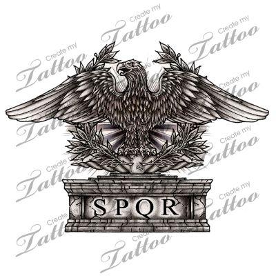 Marketplace Tattoo Roman Eagle #10667 | CreateMyTattoo.com