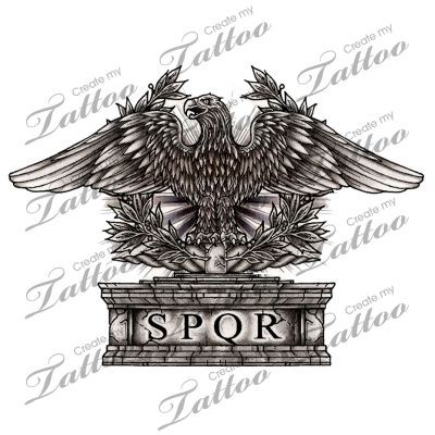 Marketplace tattoo roman eagle 10667 for Italian warrior tattoos