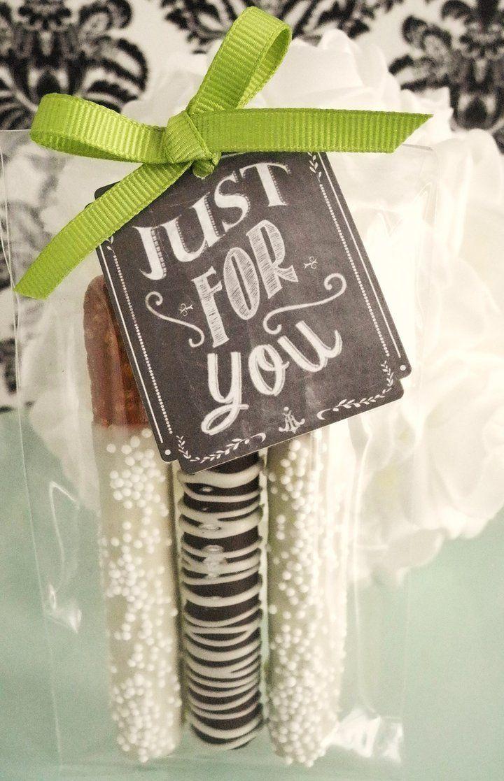 Trio de Bretzels trempés dans le chocolat   Farine et Chocolat   Petits cadeaux