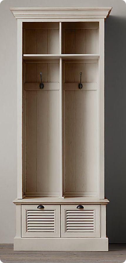 DIY - Once a Bookshelf… Now Mudroom Lockers!