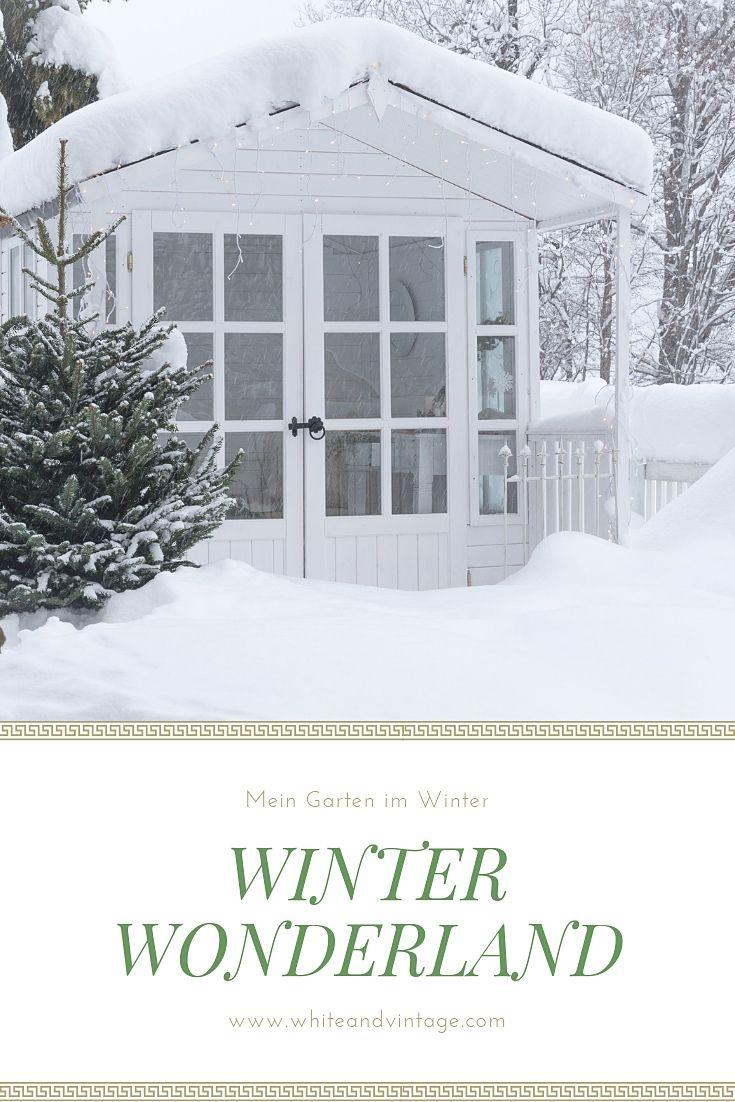 Gartenhaus im Winter Auch im Winter nützen wir unser