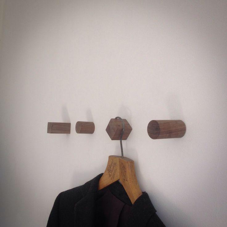 Walnut wall hooks, picture hooks, coat hooks by Flypenguinfly on Etsy https://www.etsy.com/listing/232727977/walnut-wall-hooks-picture-hooks-coat