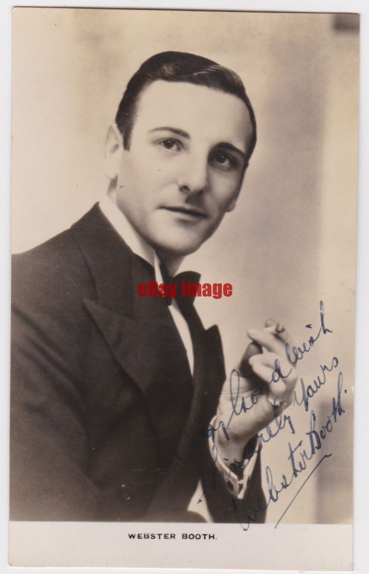 D 039 Oyly Carte Opera Tenor Webster Booth Early Signed Photograph | eBay