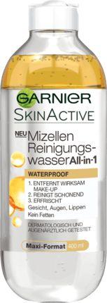 Das Garnier Mizellen Reinigungswasser All-in-1 Waterproof entfernt wirksam wasserfestes und langanhaltendes Make-up und reinigt das Gesicht schonend. Die...