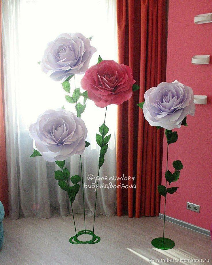 Большие розы на стальной ножке (Аренда, продажа) – купить в интернет-магазине на Ярмарке Мастеров с доставкой