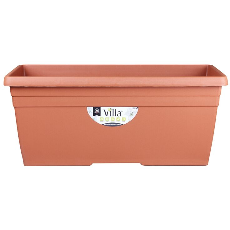 Northcote Pottery 800mm Terracotta Villa Plastic Trough | Bunnings Warehouse