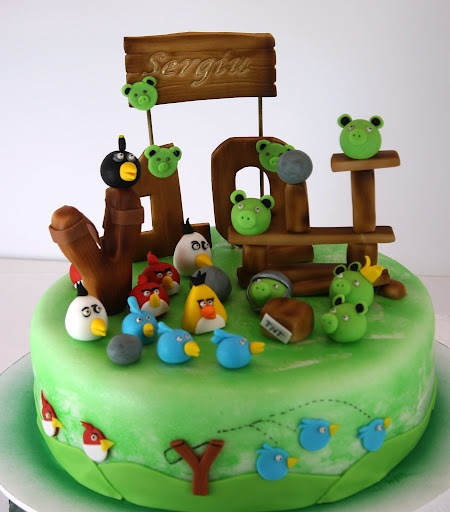 viorica's cakes: Angry Birds for Sergiu