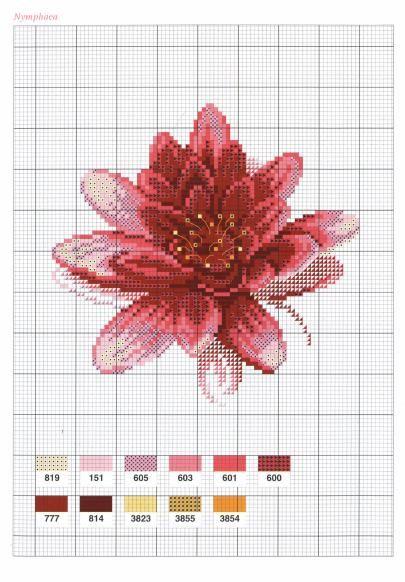 schema a punto croce - fiore