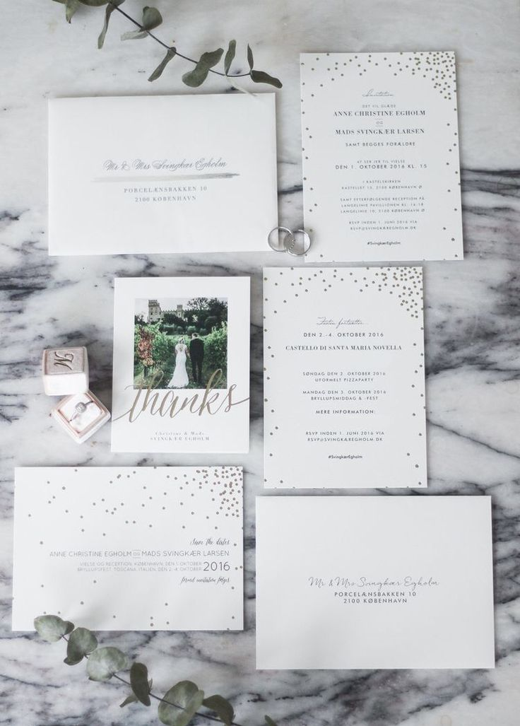 Bryllup: invitationer, save-the-dates & takkekort
