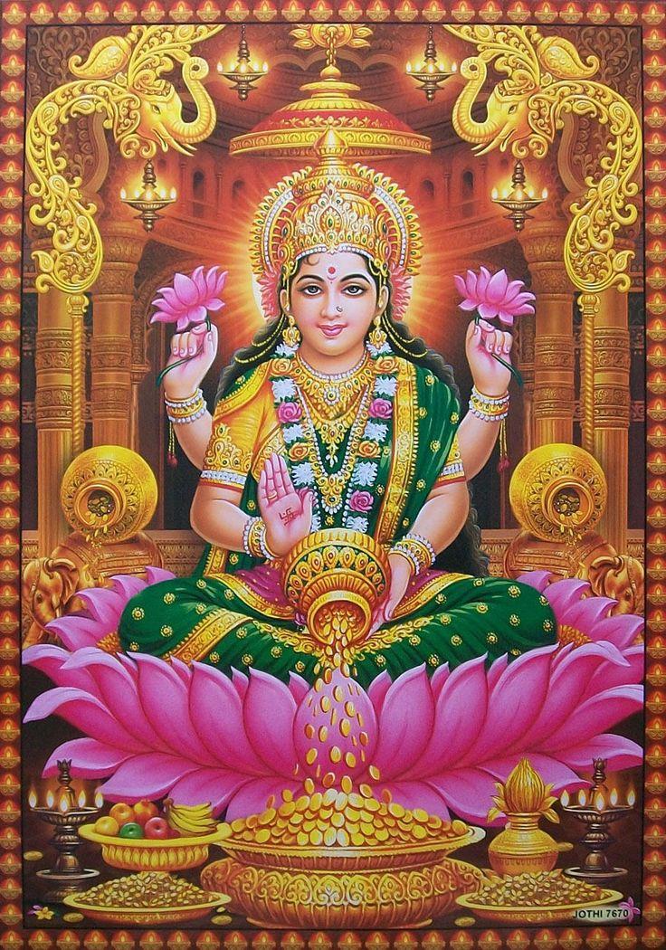 """Hindu Wealth * Money Goddess ~ SRI LAKSHMI LAKSMI MAA ~ Big POSTER (20""""x30"""") picclick.com"""