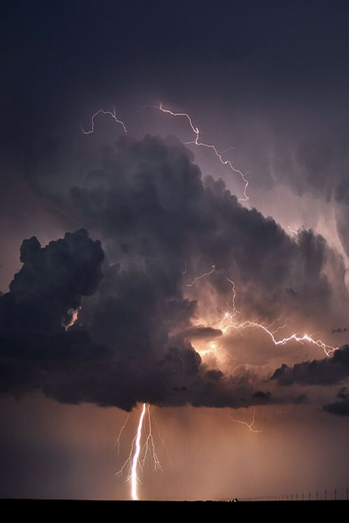 storm cloud and lightning