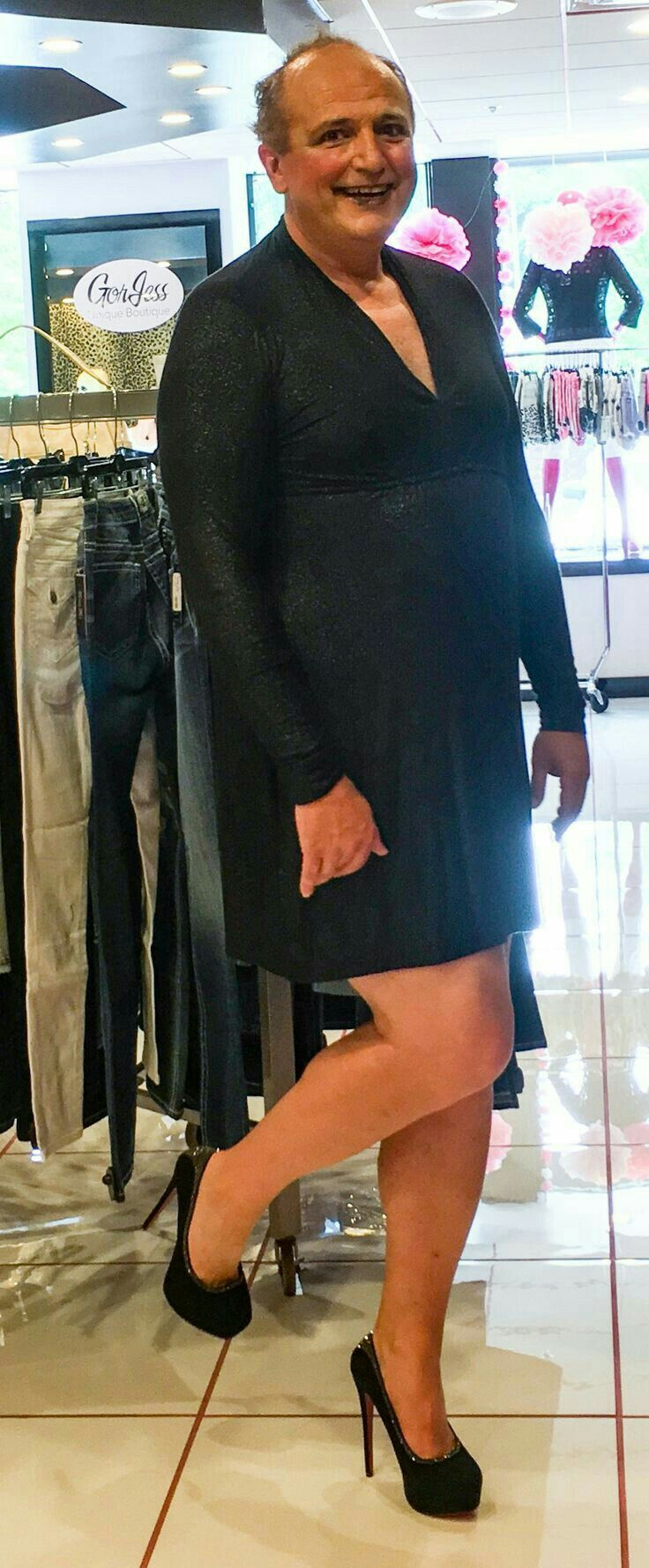 Pin By Jeff Branch On Men In Skirts And Heels In 2020 Gender Fluid Fashion Men Dress Dress And Heels