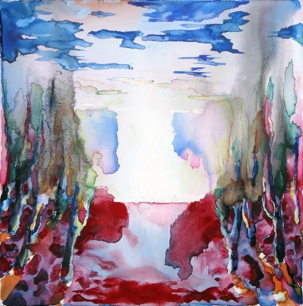 L'orizzonte degli eventi - ecoline, Ink and aquacryl on canvas - cm 50 x 50
