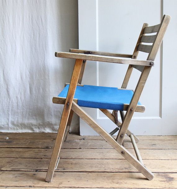 Vintage Canvas Folding Deck Chair 65 00 Svpply