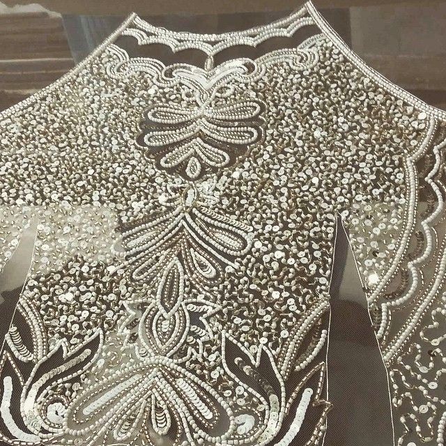 persy_couture@persy_bridal hand embroidery work in progress ✂️✂️✂️