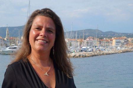 Ramona Packert im Hafen von Sanary-sur-Mer