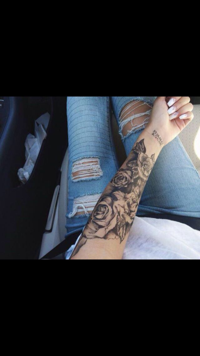 Roses sleeve tattoo