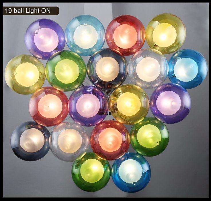Современные Светодиодные Многоцветная отделка Стекла Ильде Макс Подвеска Люстра Лампы Подвеска Спальня Гостиная Столовая Люстра Светильник G4 купить на AliExpress