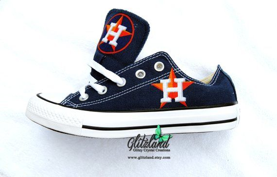 aab50dfe6a873 CONVERSE Chuck Taylor Low Top With Houston Astros Logo | Craftes in ...