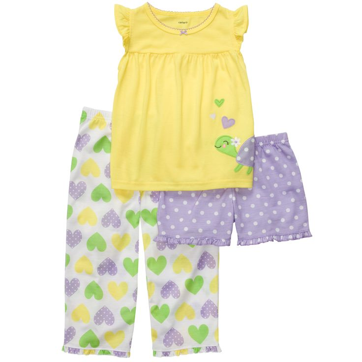 3-Piece Jersey Pjs | Toddler Girl Pajamas | For my ...