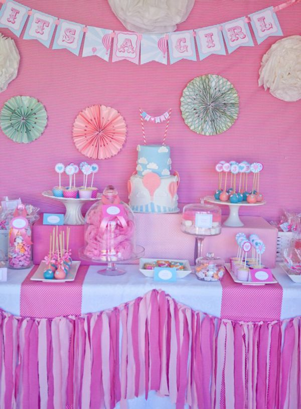 Vintage Hot Air Balloon Baby Shower in Pink, Aqua, & Mint via Karas Party Ideas | Karas Party Ideas #baby #shower #ideas
