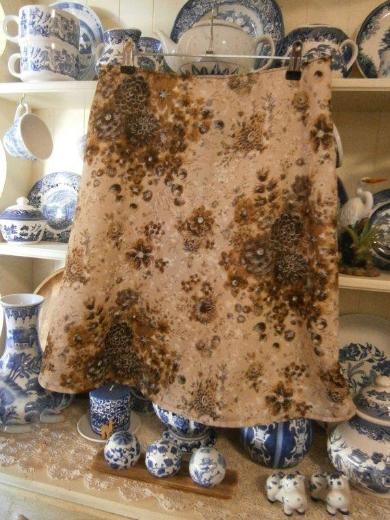 Ladies Vintage Fabric fifties inspired Handmade A Line Skirt Size 10 AU/UK