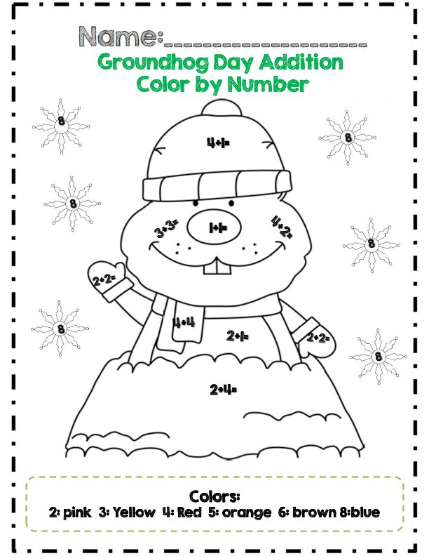 First Grade Groundhog Day Math Adventures Common Core Aligned