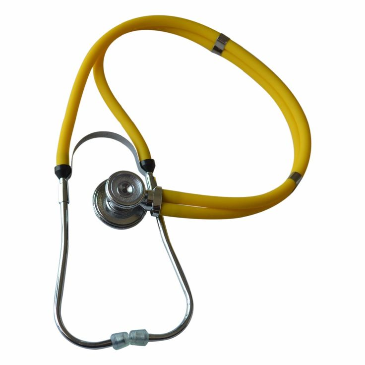 Yellow Multifunction dual-headed Professional NEW Medical Clinical Classic Doctor Stethoscope