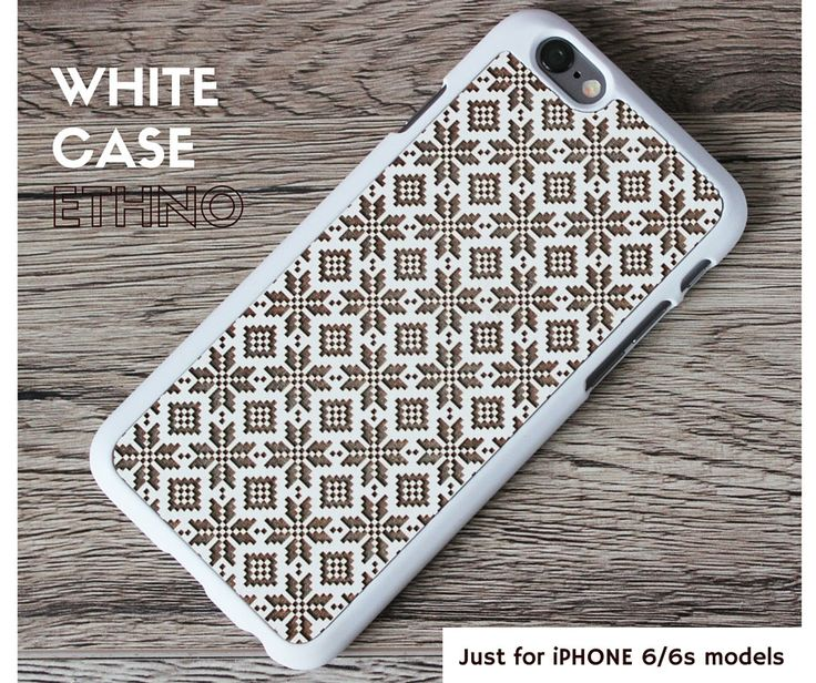 Ethno II iPhone 6/6s White Wood Case. Handmade in Europe / FREE Shipping! - pinned by pin4etsy.com
