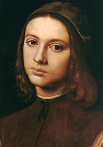 Portrait of a Young Man Author : PIETRO PERUGINO Date :1495