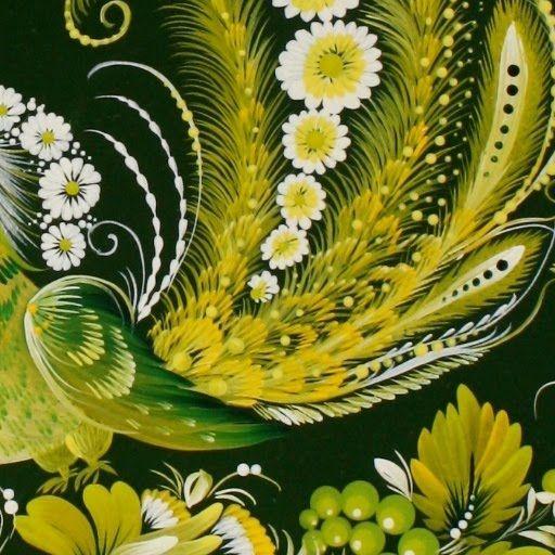 Зелений птах - Валентина Хоменко– Petrykivka art