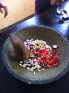Balinese cooking class mortar & pestle