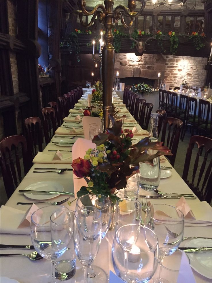 Table set at Upper House Hayfield
