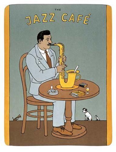 Cartoon: Jazz Cafe (medium) by Jiri Sliva tagged blues,music,jazz,coffee,cafe