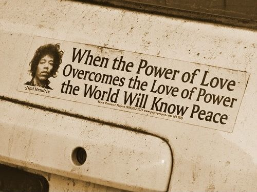 Words of Jimi Hendrix    When will the leaders understand?
