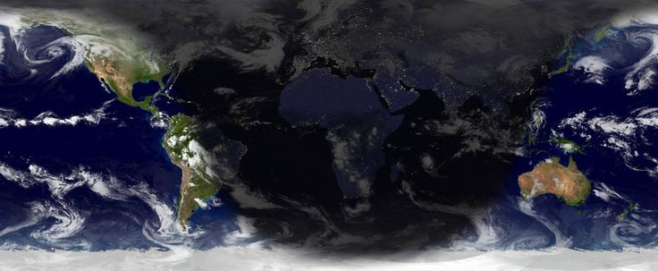 [World Sunlight Map: rectangular projection]