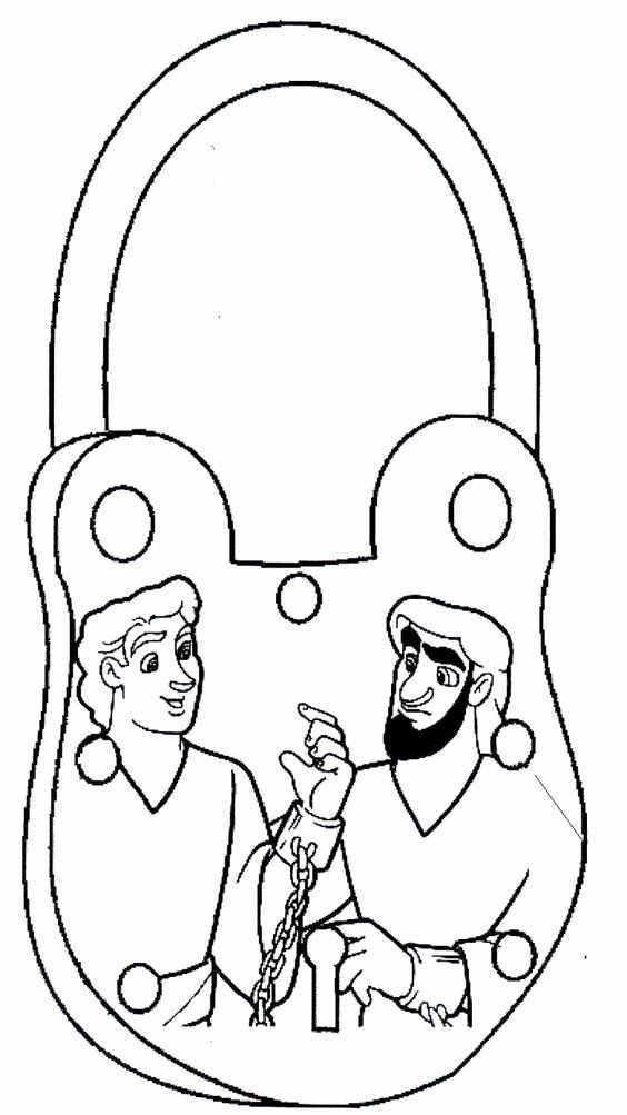 Paul and Silas In Jail Coloring Page Luxury Paul and Silas