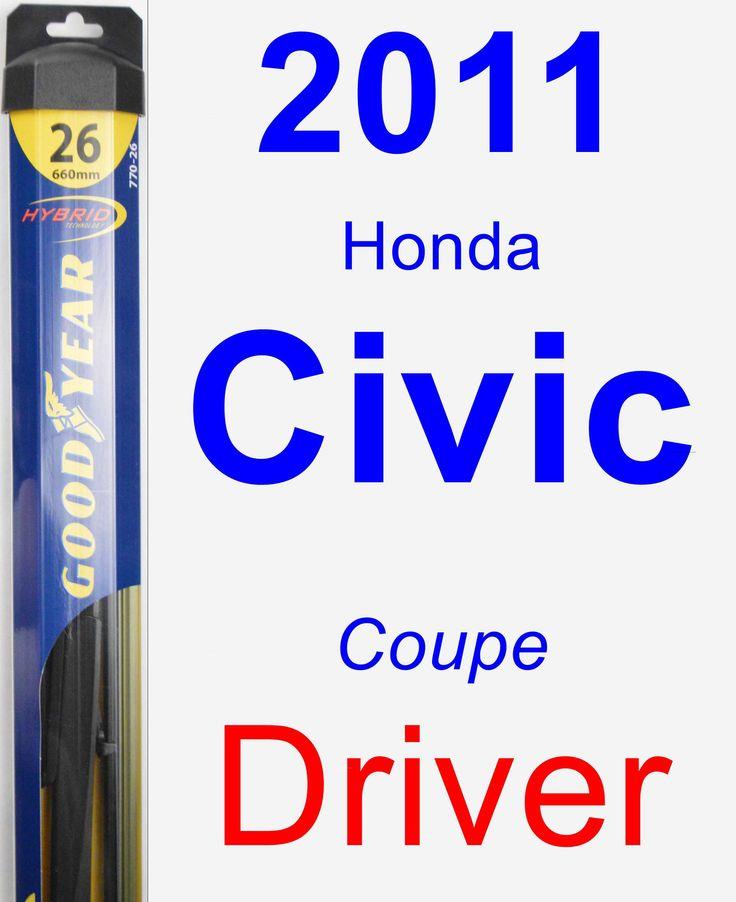 Driver Wiper Blade for 2011 Honda Civic - Hybrid