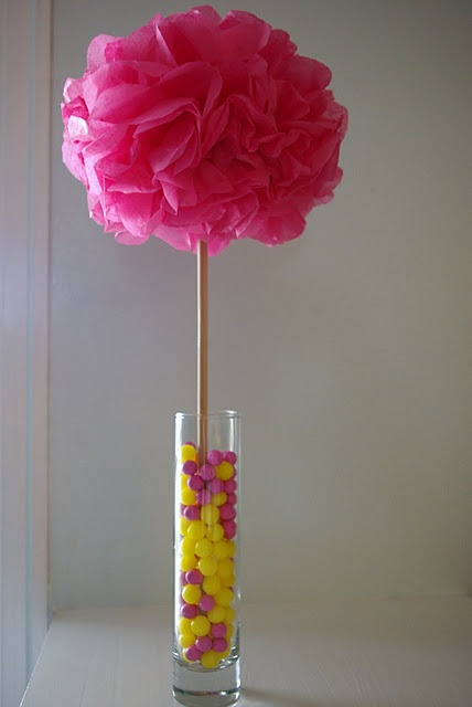 Great idea for a theme party using colors or baby/bridal shower or graduation party using school colors.