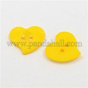 Acrylic Heart ButtonsX-BUTT-E086-A-02