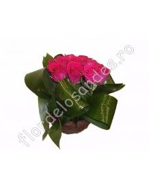 Cosuri de flori Cos de trandafiri ciclam