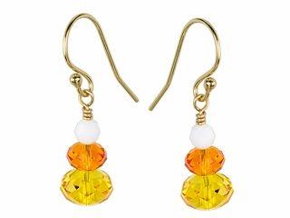 Candy Corn Earrings Kit featuring Swarovski Crystal