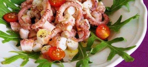 Салат с осьминогом | Вкусные кулинарные рецепты