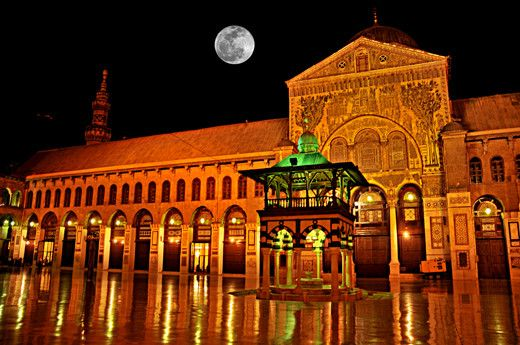 The Omayad Mosque and full moon – Syria